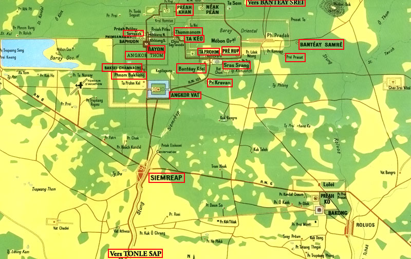 Angkor Wat Karte.Angkor Karte Kambodscha