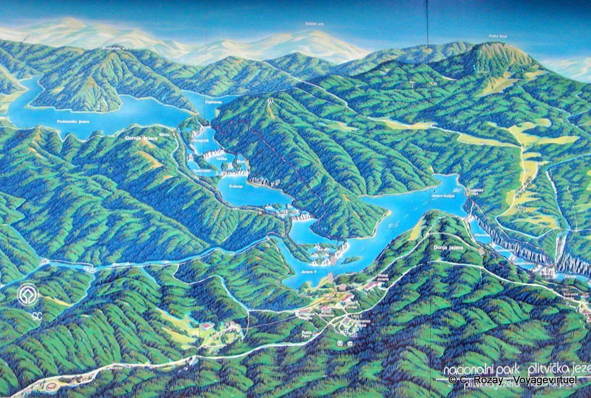 Nationalpark Plitvicer Seen Karte.Karte Nationalpark Plitvicer Seen Kroatien