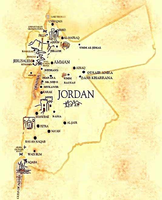 Jordanien Karte.Karte Von Jordanien