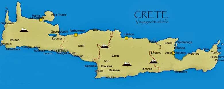 Griechenland Karte Kreta.Karte Von Kreta Photos Kretas Griechenland